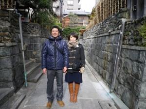 代表の深津晋太郎と職人の堀内千恵です。ちなみに夫婦で庭師をしています